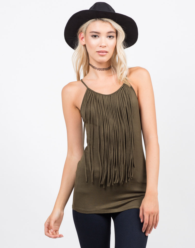 Fringe Cami Tank Top - 2020AVE