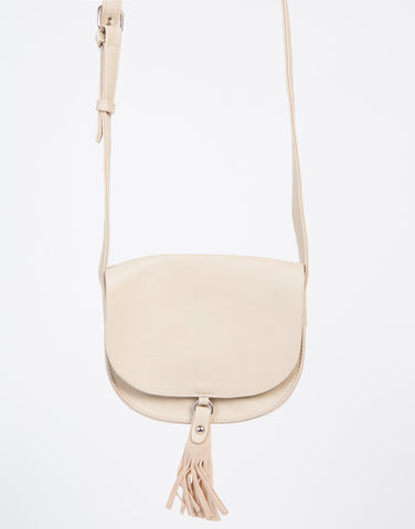 Fringed Saddle Crossbody Bag