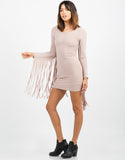 Side View of Fringed Bodycon Dress