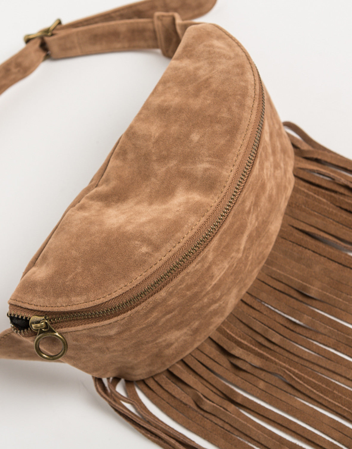Front View of Fringed Fanny Pack
