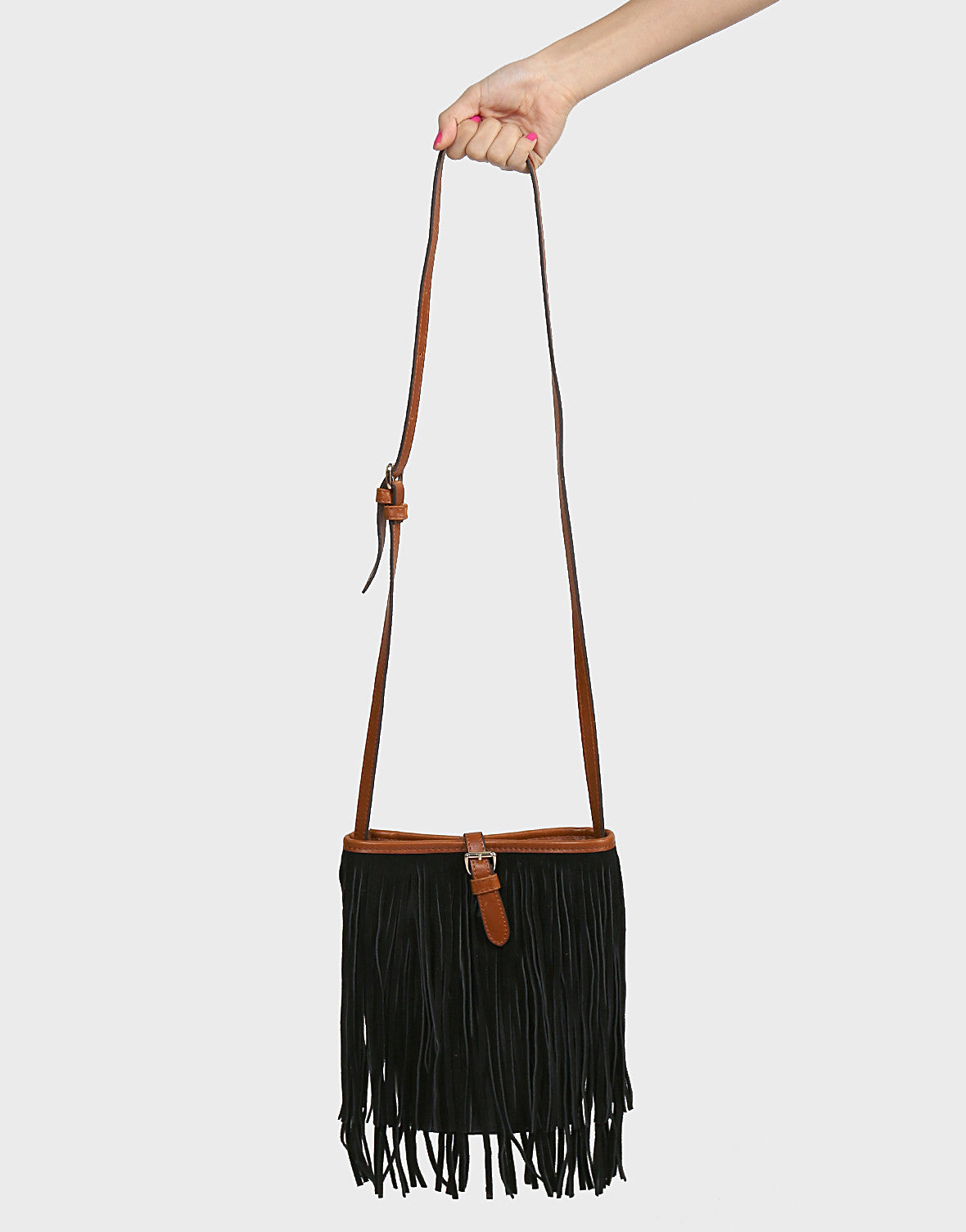Fringed Out Bucket Bag