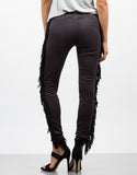 Back View of Fringed Out Leggings
