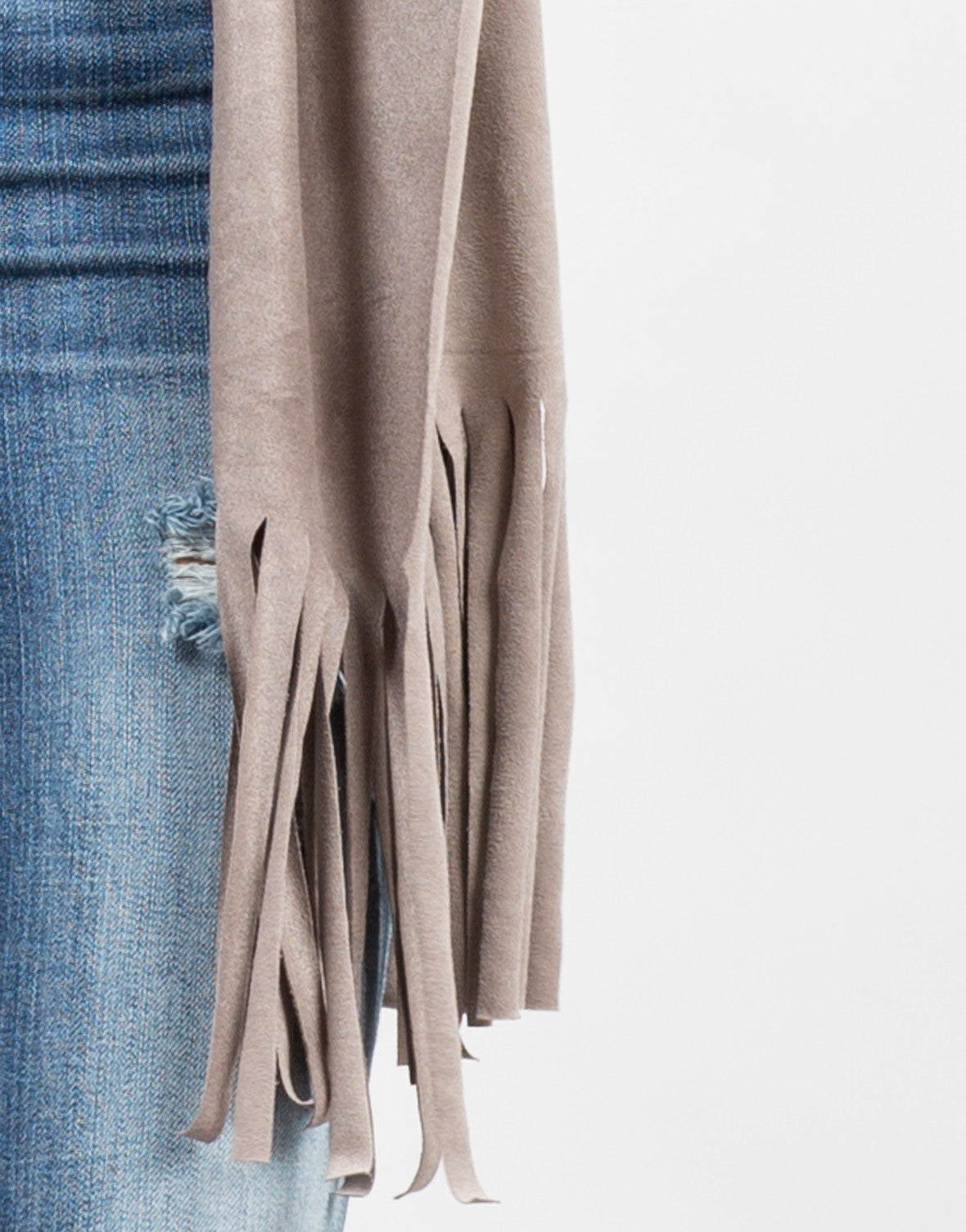 Detail of Fringed Out Suede Vest