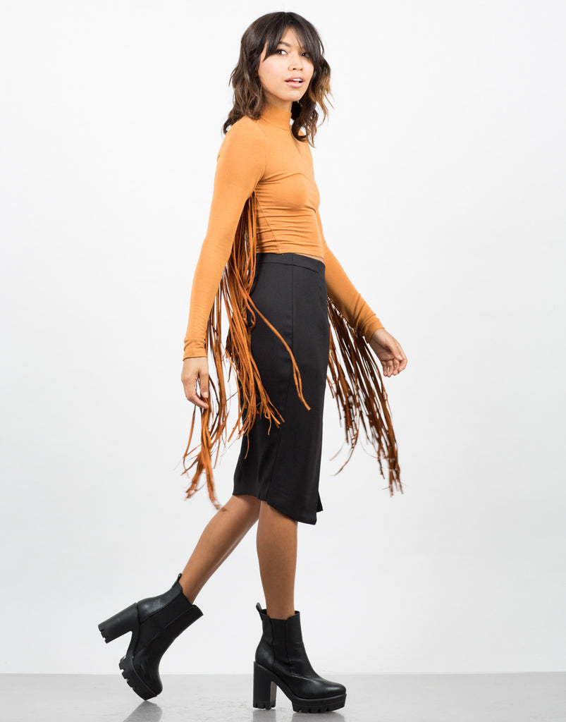 Fringed Sleeves Top - 2020AVE