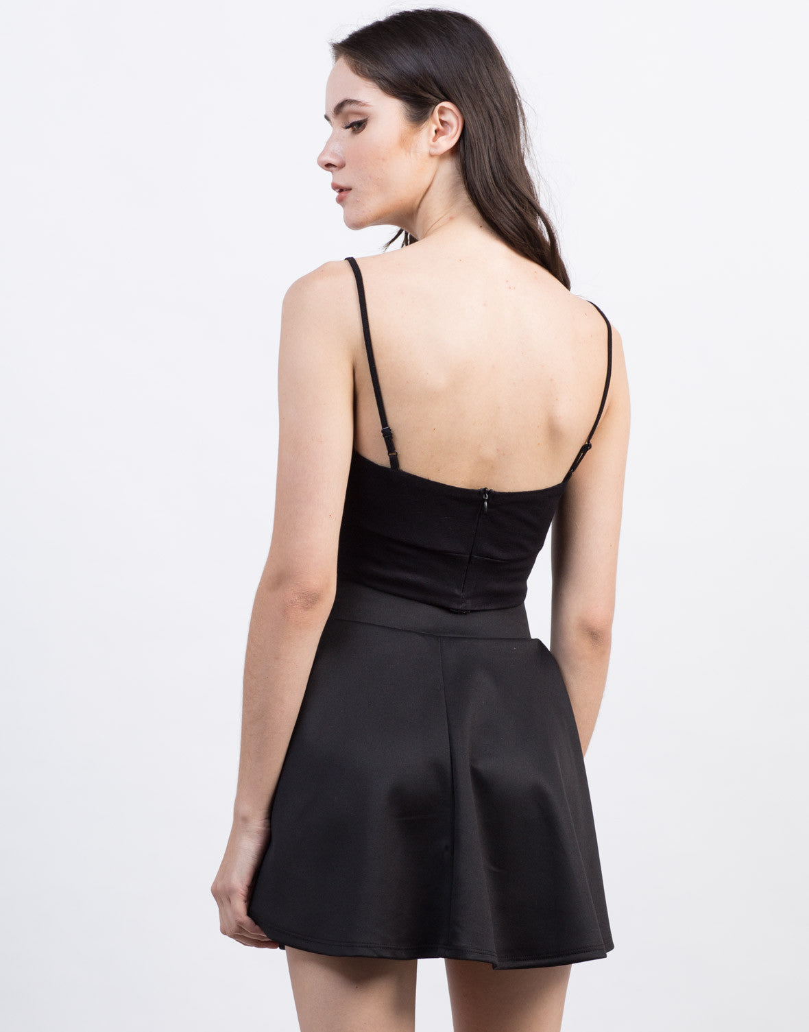 Back View of Front and Center Cropped Top