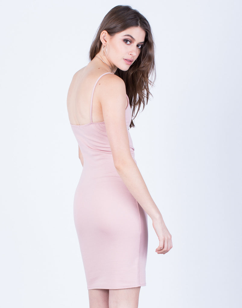 Back View of Front Lace-Up Party Dress