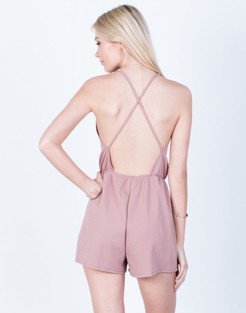Back View of Front Wrapped Romper