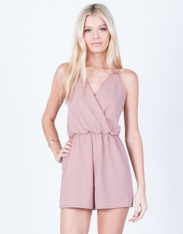Front View of Front Wrapped Romper