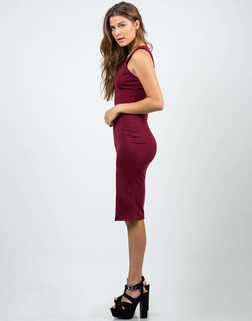 Front Slit Midi Dress - 2020AVE