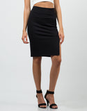 Front View of Front Slit Pencil Skirt