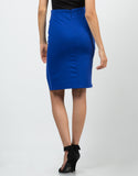 Back View of Front Slit Pencil Skirt