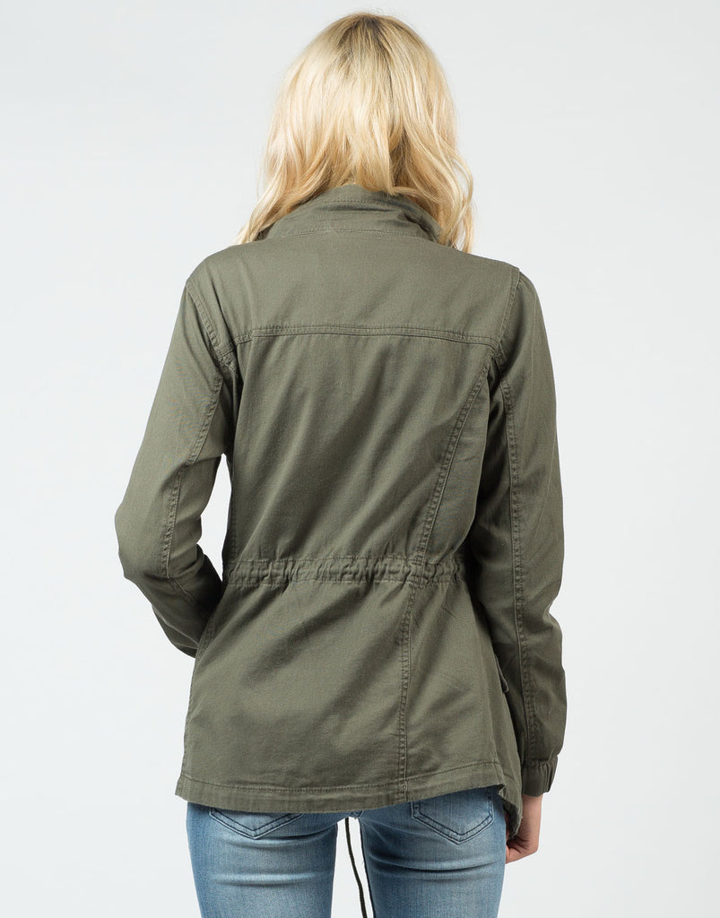Front Tie Army Jacket - 2020AVE
