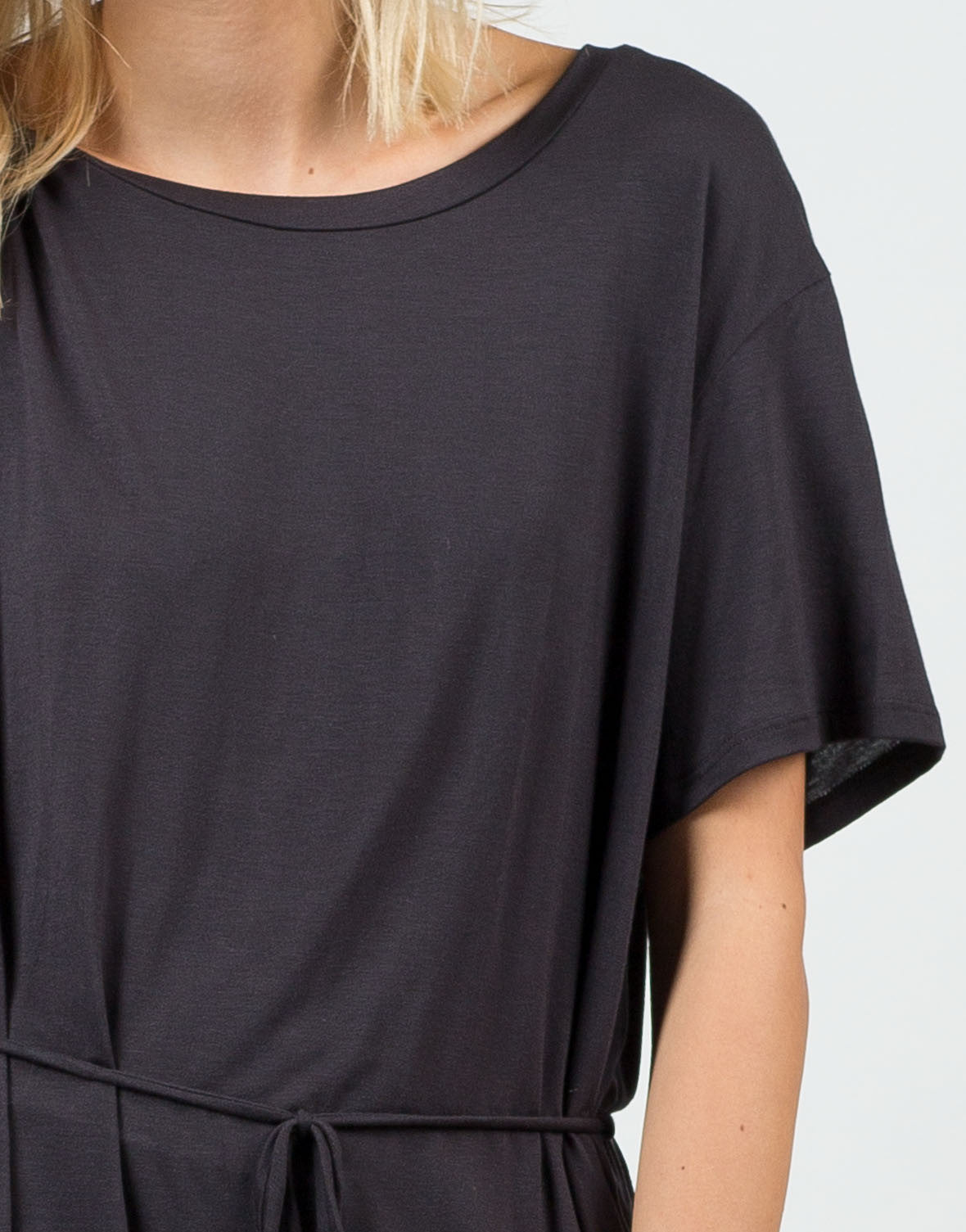 Detail of Front Tie Short Sleeve Dress