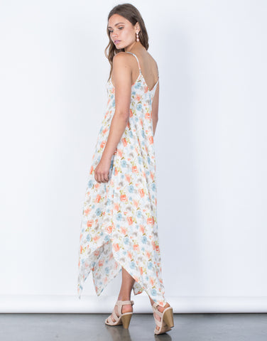Back View of Full Bloom Midi Dress