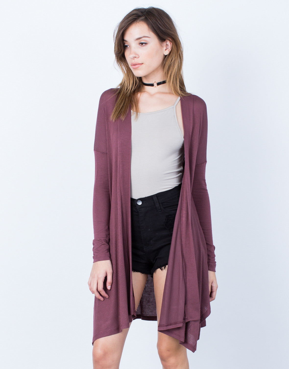 Front View of Full of Flow Cardigan
