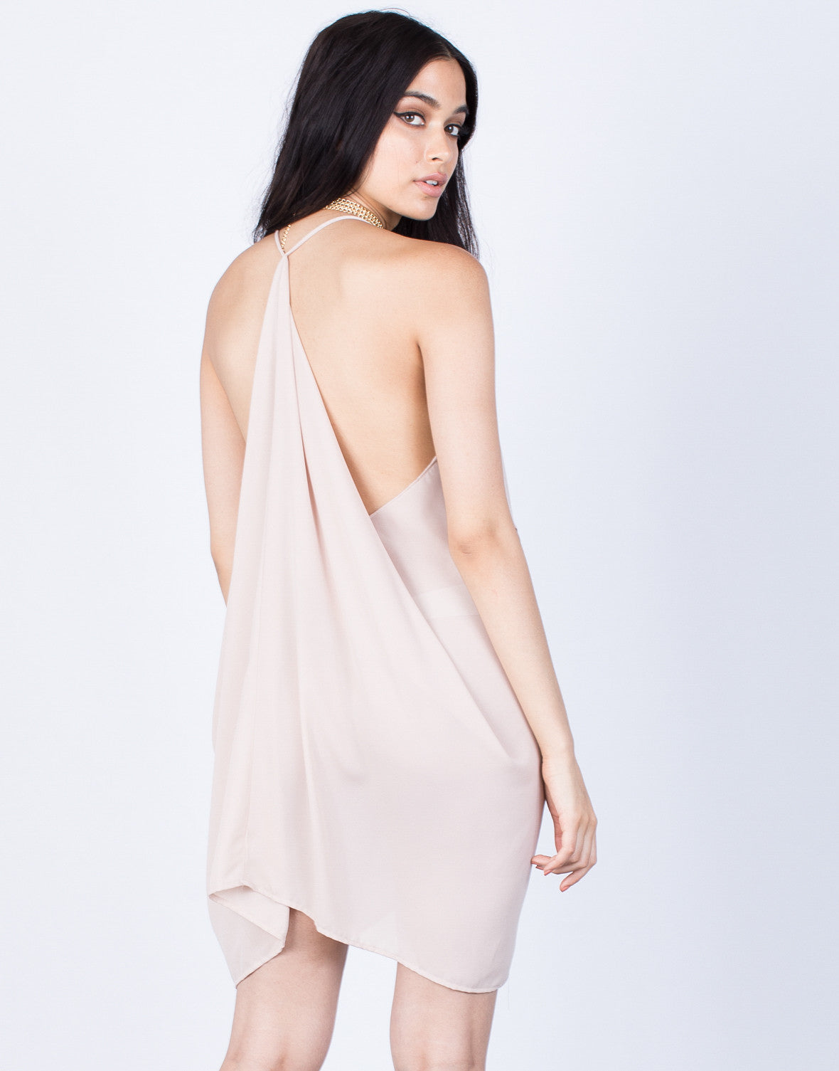 Back View of Full of Flow Dress