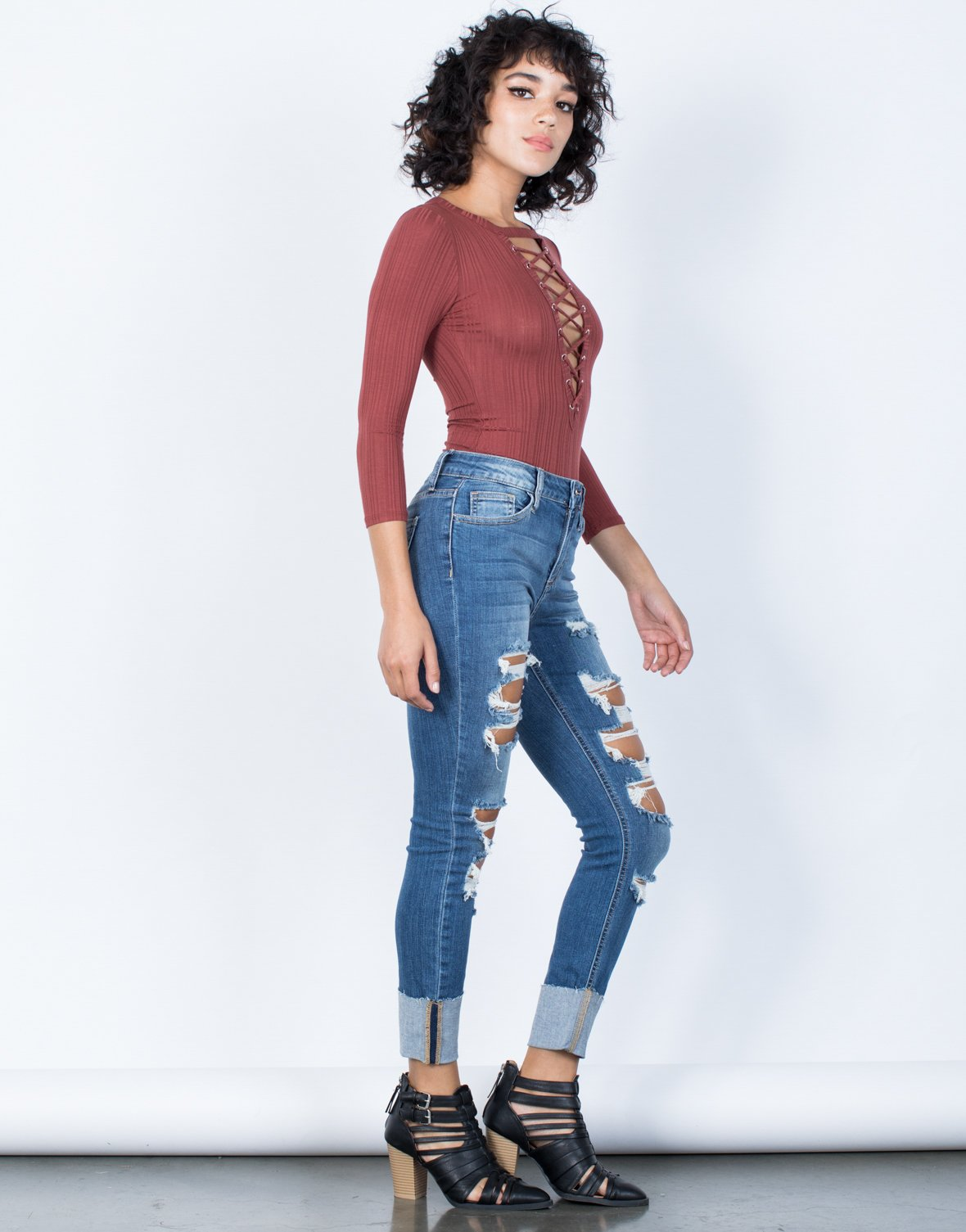 Fully Cuffed Denim Jeans - 2020AVE