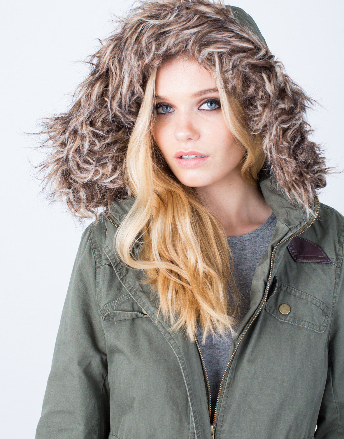 Detail of Furry Nice Parka Jacket