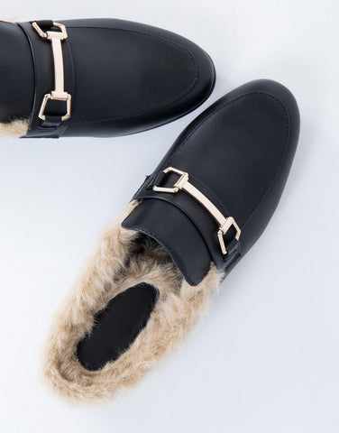 421280324fbb Furry Feels Leather Slides - 2020AVE
