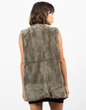 Back View of Furry Oversize Vest