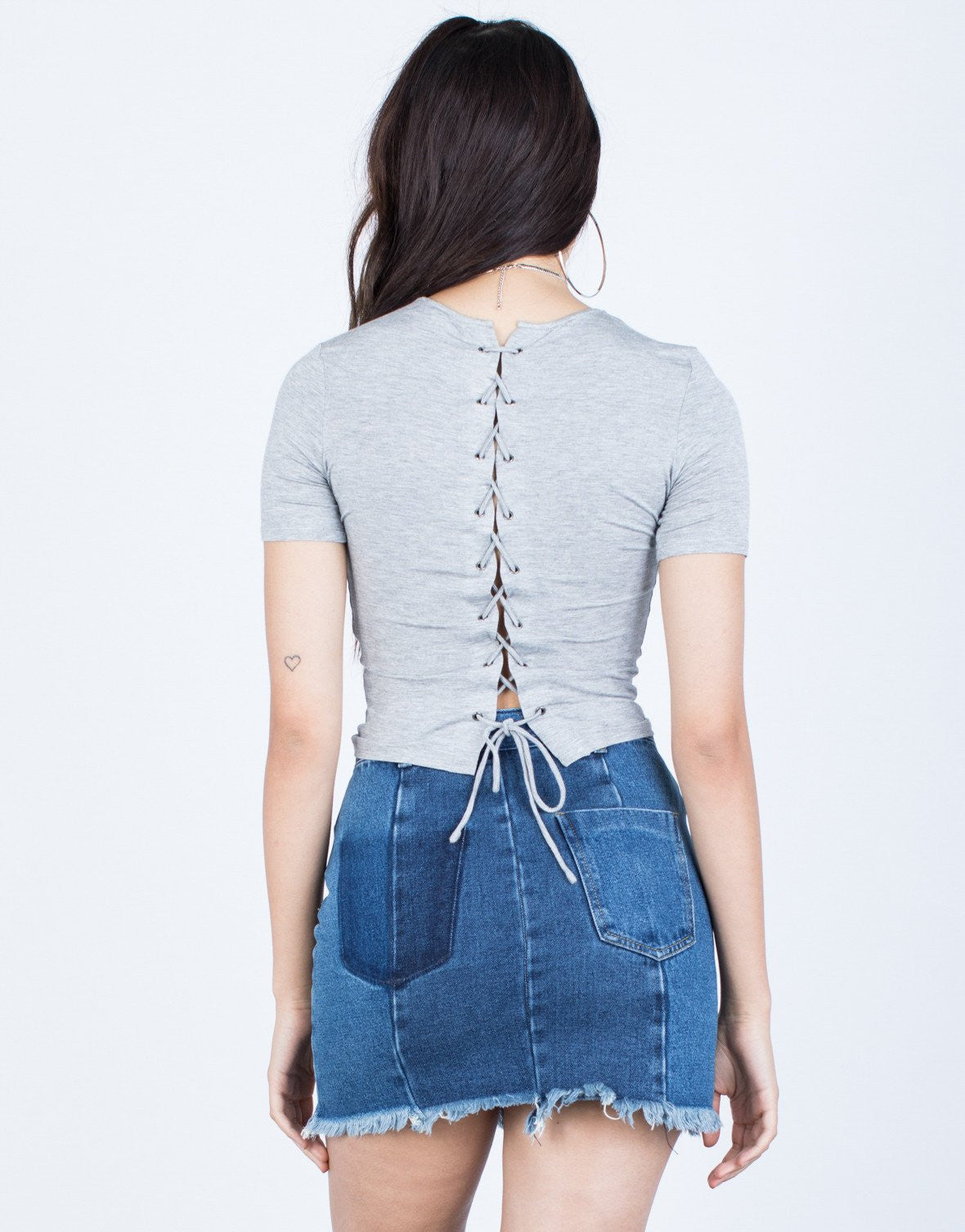 Gaby Lace-Up Tee - 2020AVE