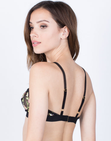 Back View of Garden Sheer Bralette