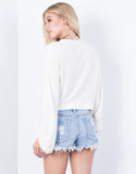 Gather Around Crop Sweater - 2020AVE