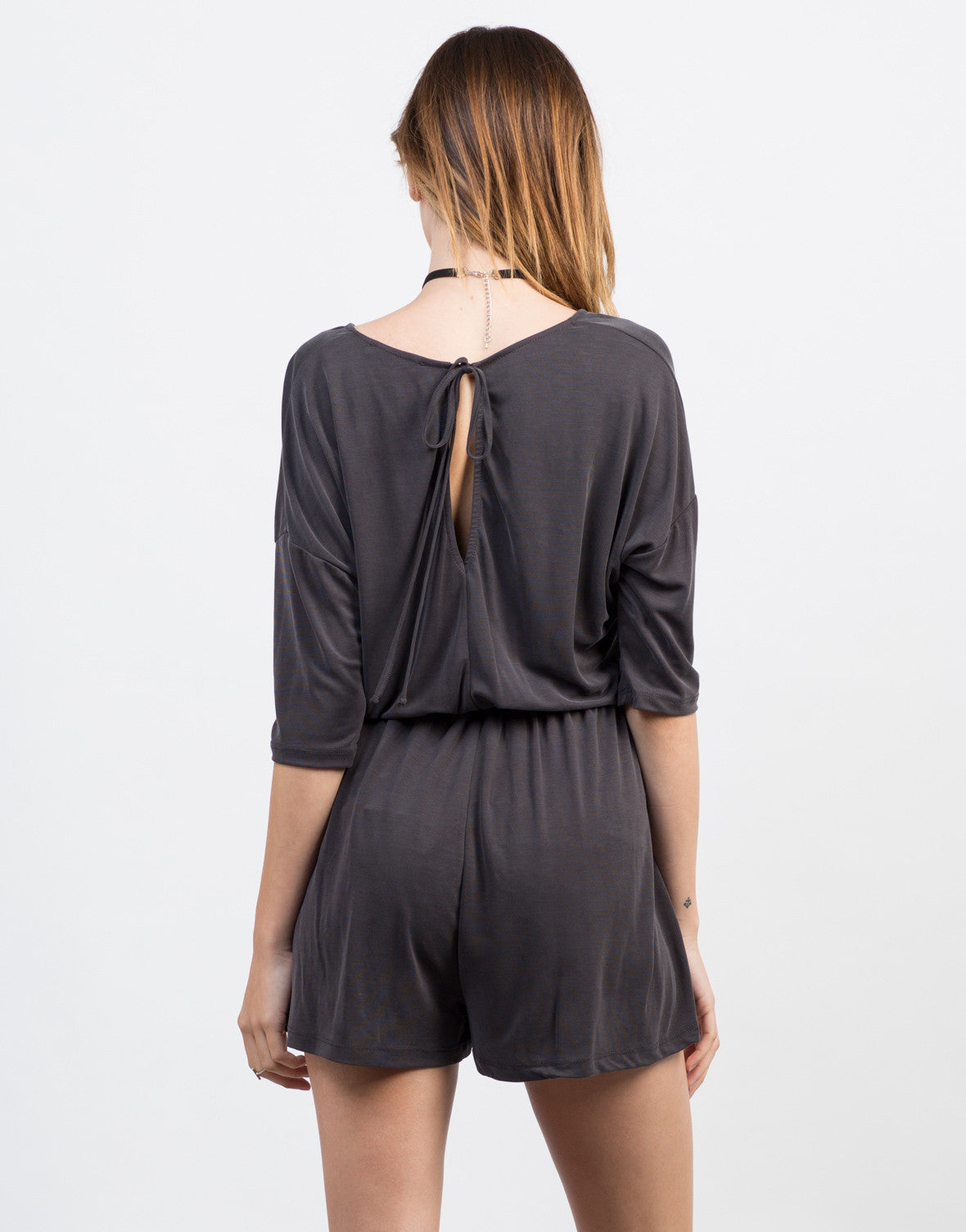 Back View of Get Tied Up Romper