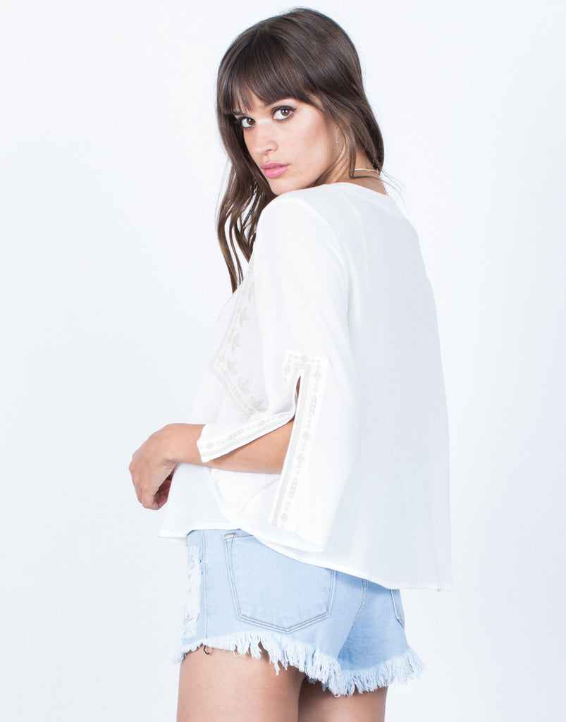 Back View of Getaway Boho Top