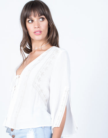 Detail of Getaway Boho Top