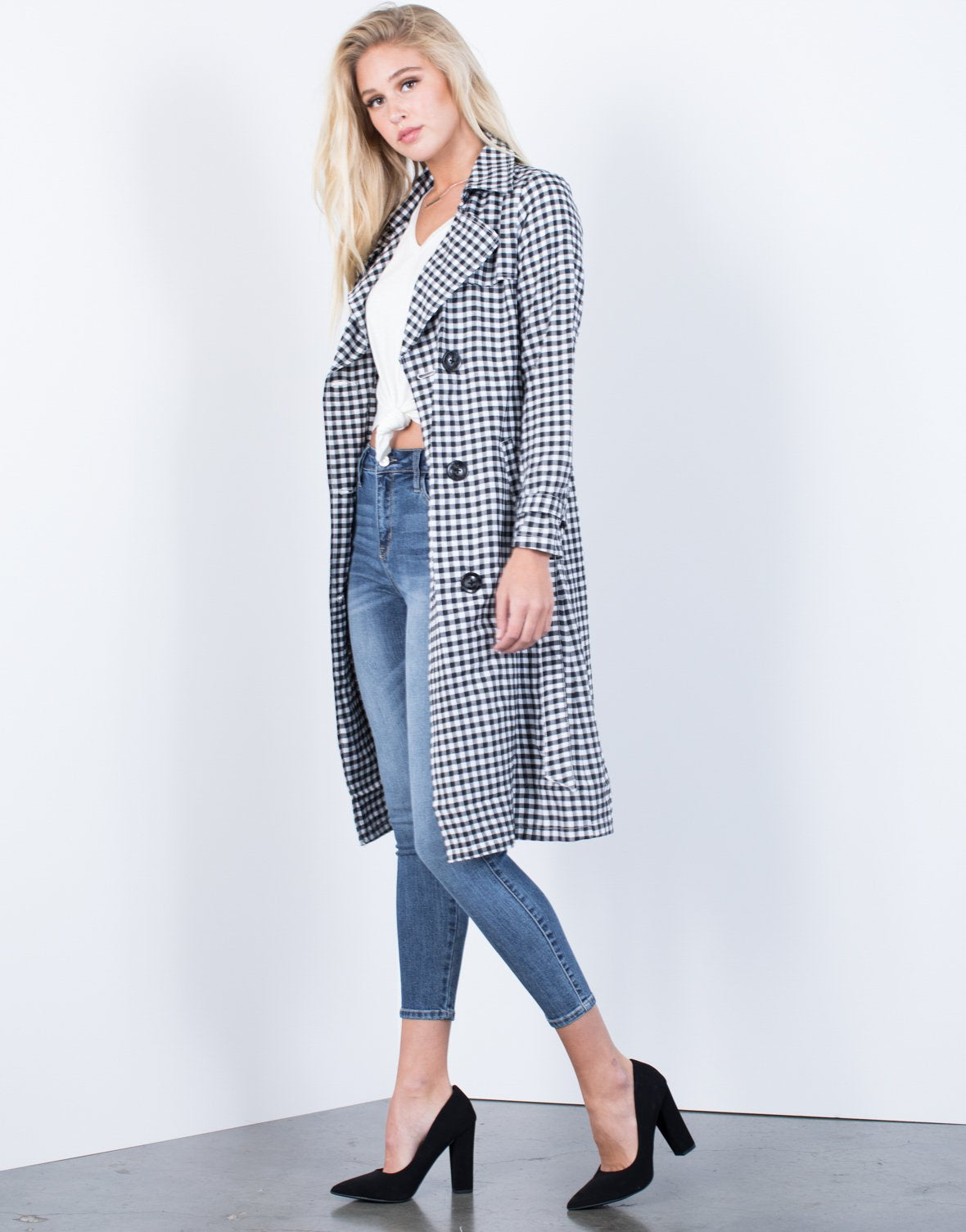 Gingham Days Trench Jacket
