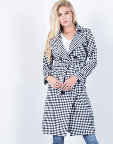 Gingham Days Trench Jacket - 2020AVE