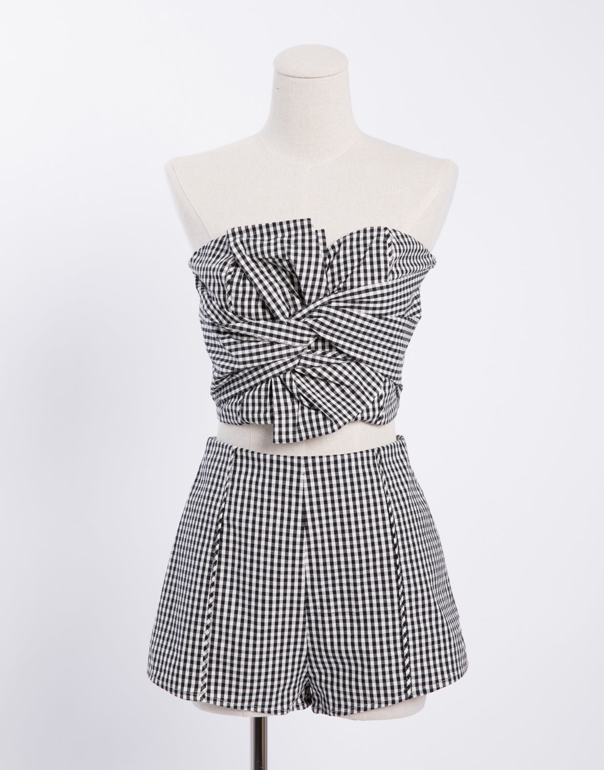 Gingham Twist Tube Top