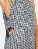 Detail of Gingham Cut Out Romper