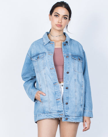 Front View of Girl Gang Denim Jacket