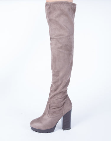 Give 'Em Edge Over-the-Knee Boots
