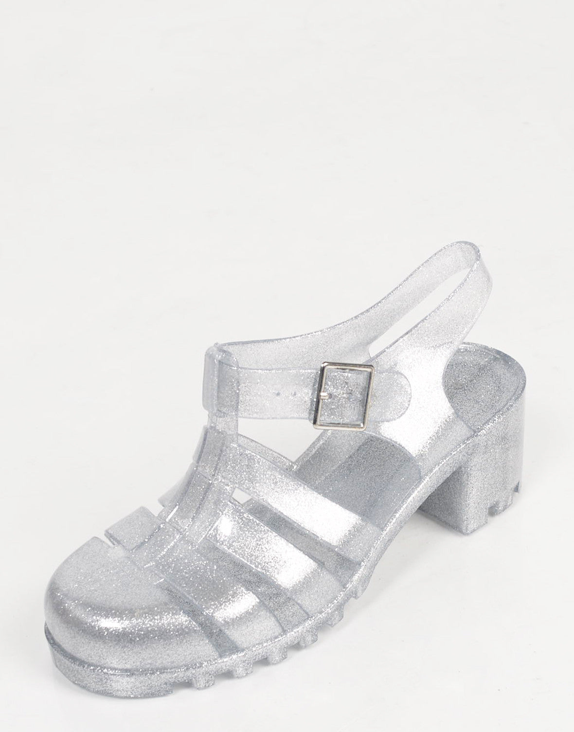 Glitter Jelly Heeled Sandals