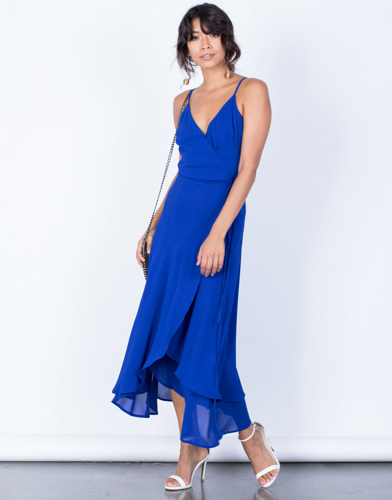 Front View of Gloria Maxi Dress