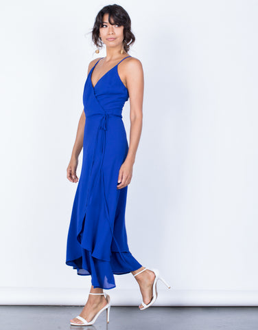 Side View of Gloria Maxi Dress