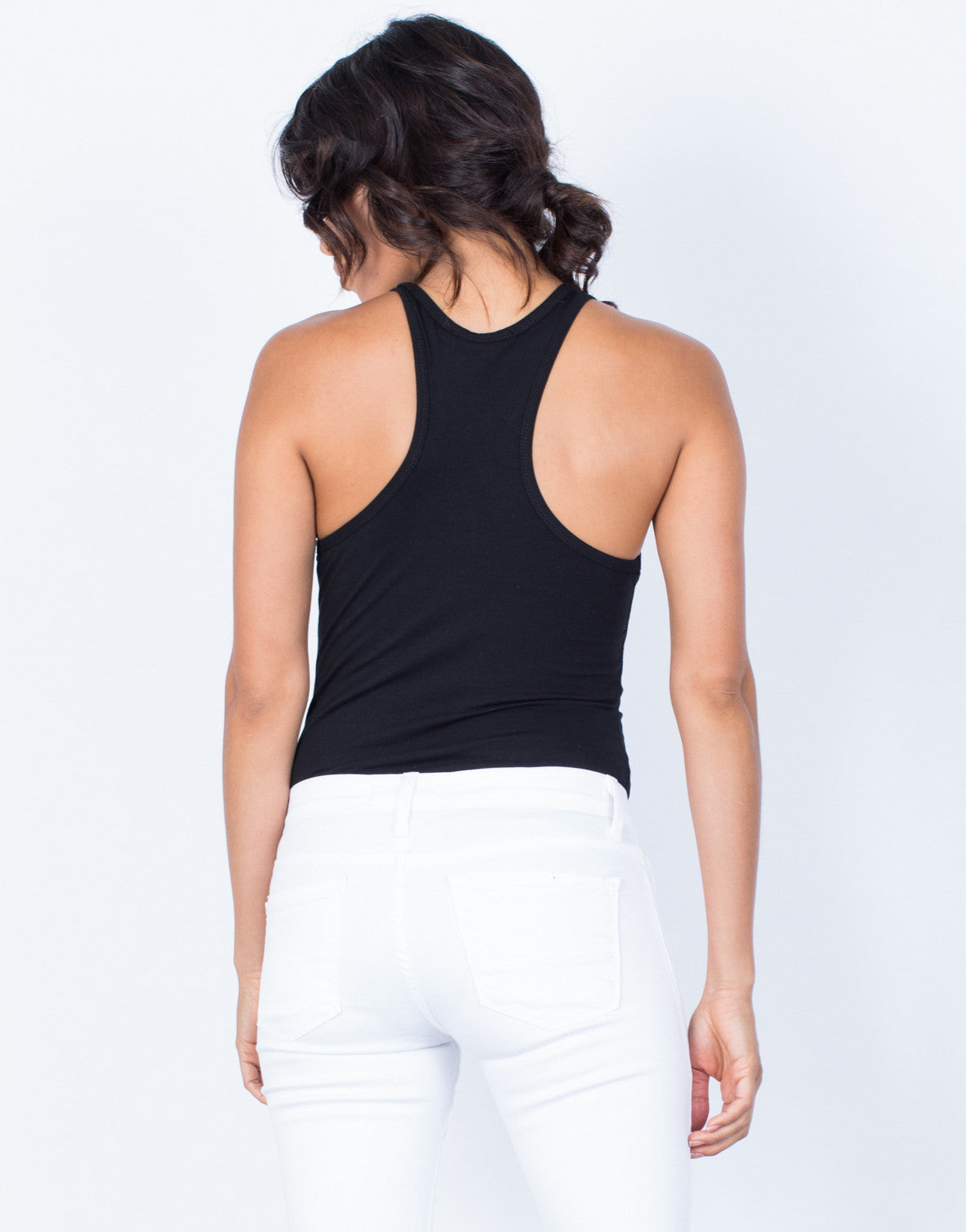 Back View of Go-To Basic Bodysuit