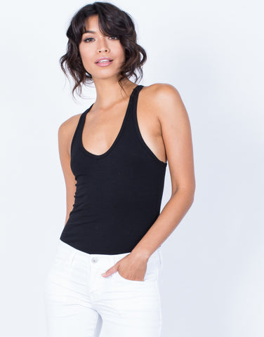 Front View of Go-To Basic Bodysuit
