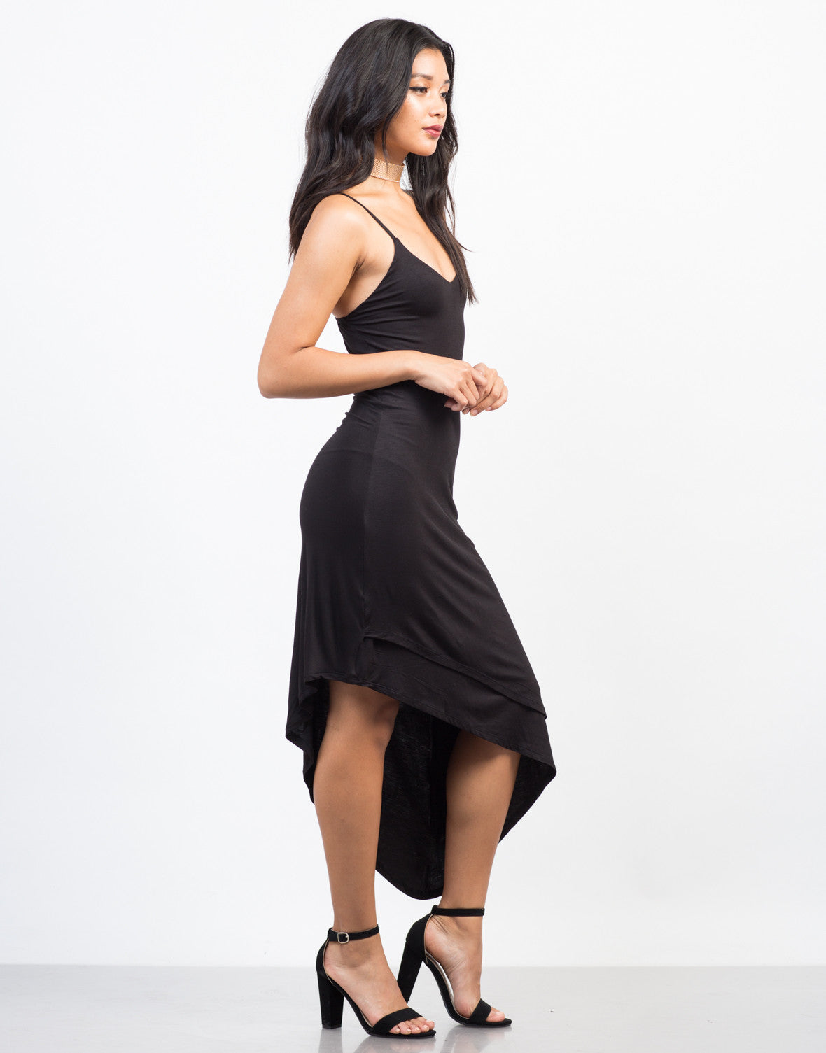 Side View of Going Sideways Slip Dress