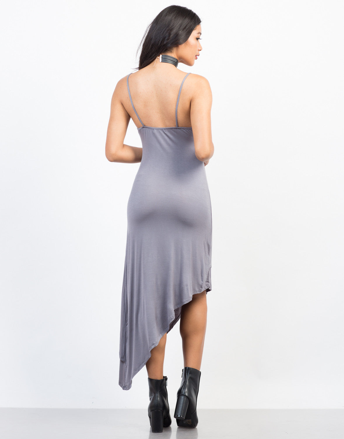 Back View of Going Sideways Slip Dress