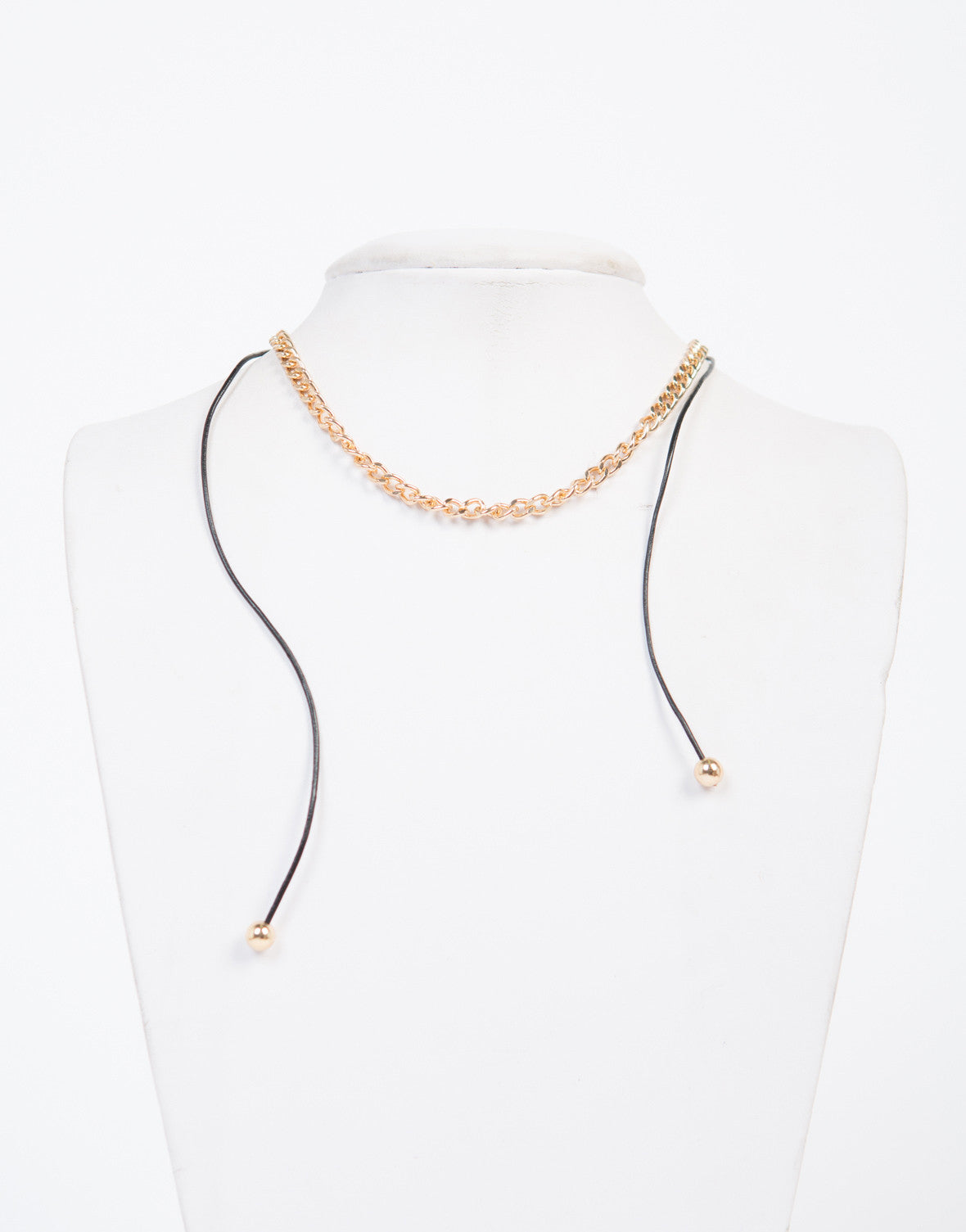 Gold Chain Adjustable Necklace