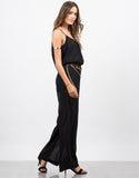 Side View of Gold Chained Jumpsuit