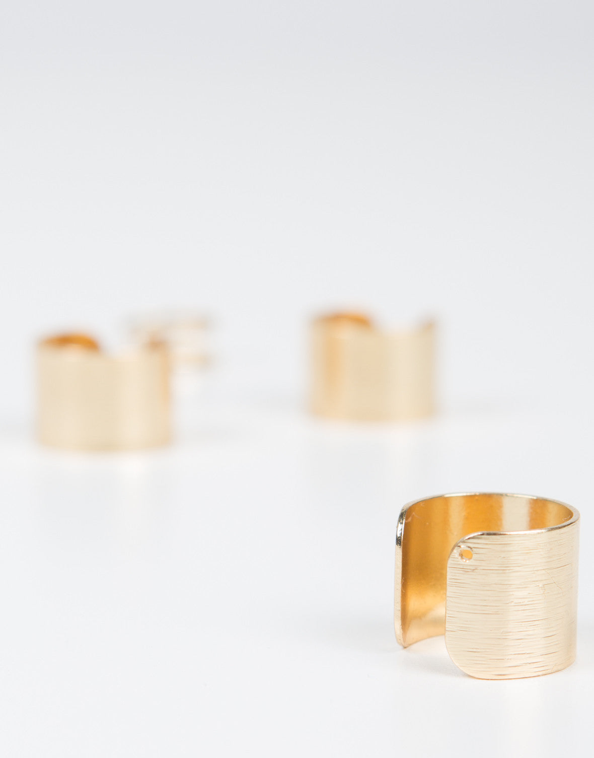 Gold Cuff Ring Set