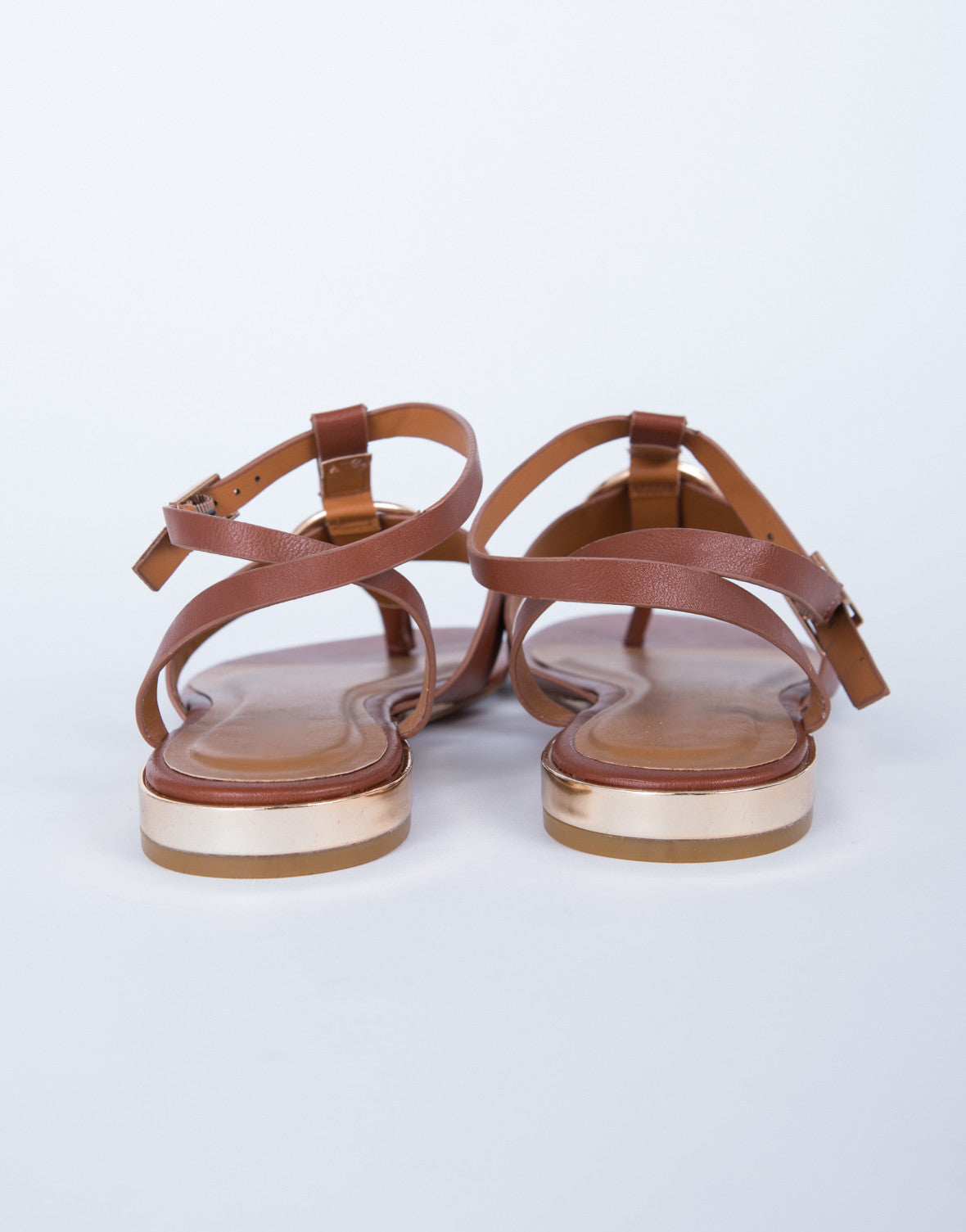 Golden Accent Sandals
