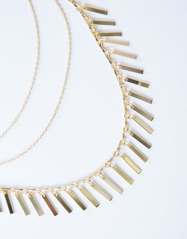 Golden Bars Choker