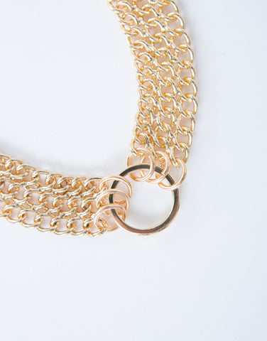 Golden Chained Choker