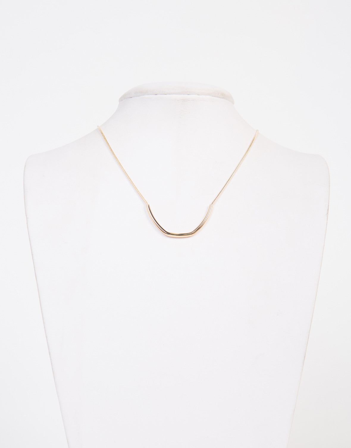 Golden Curved Bar Necklace